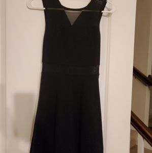 Little black dress with mesh detail